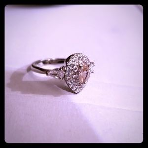 Jewelry - White gold plated cubic zirconia ring